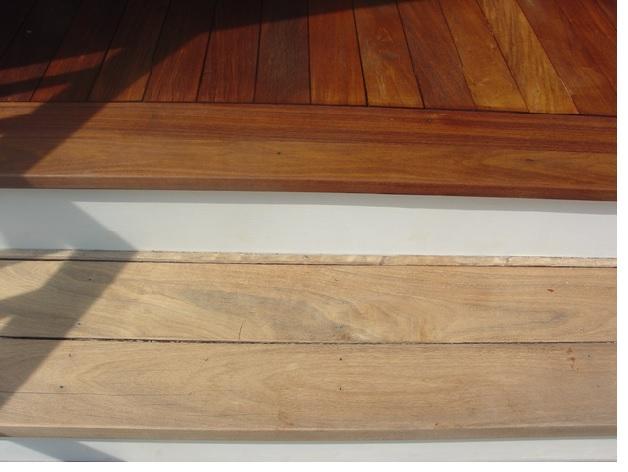 Restored Ipe Deck Stain