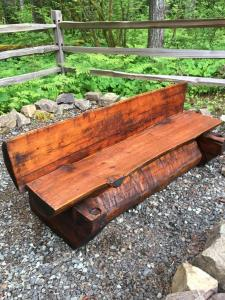 Cedar Bench after staining with Timber Oil Western Cedar