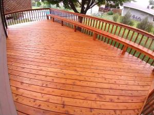 Cedar Deck After Stained with Timber Oil Amaretto