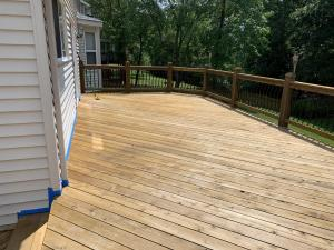 Cedar Deck Before Stained with Timber Oil Brown Sugar
