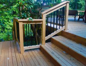 Cedar Deck Before Staining with Timber Oil Western Cedar Washington