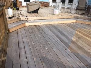 Cedar Deck Before staining with Timber Oil Amaretto