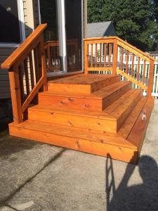 Cedar Deck after applying Timber Oil Amaretto