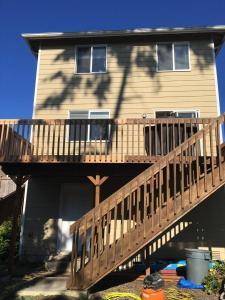 Cedar Deck before Staining Timber Oil Brown Sugar