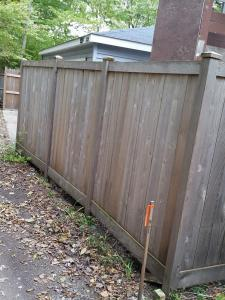Cedar Fence before applying stripping with EFC-38 & Citralic and Timber oil Brown Sugar