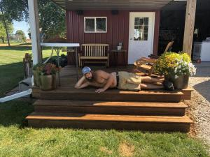 Cedar Tone Decking After applying Timber Oil Amaretto