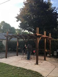 Pergola after staining with Timber Oil Signature Brown