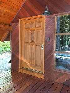 Pine Cabin Door after applying Timber Oil Western Cedar