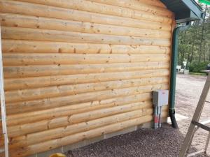 Pine Log Garage After Using EFC-38-Citralic 2