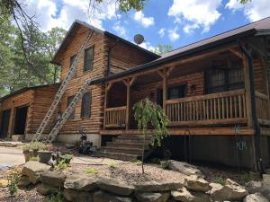 Pine Log Home After using HD-80 & Citralic