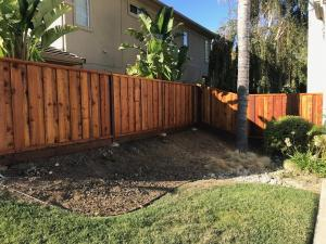 Redwood Fence After Timber Oil Brown Sugar