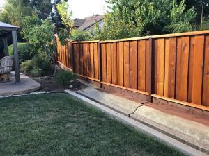 Redwood Fence After Timber Oil Brown Sugar