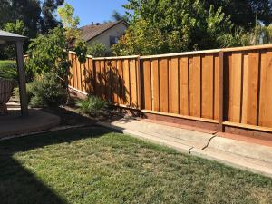 Redwood Fence Before Timber Oil Brown Sugar