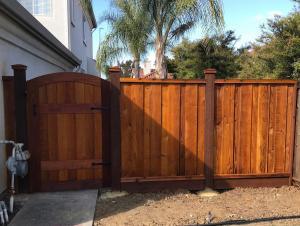 Redwood Gate & Fence After Timber Oil Brown Sugar