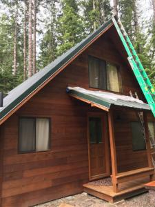 Treated Lumber Cabin after applying Timber Oil Western Cedar