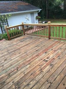 Yellow Pine Deck after applying HD-80 & Citralic