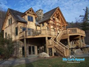Beautiful Cedar Home Stain Restoration - Back