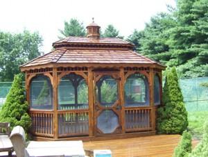 Cedar Gazebo and Deck After