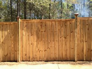 Cedar Fence After Cleaning