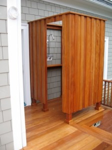 Garapa Outdoor Shower Deck