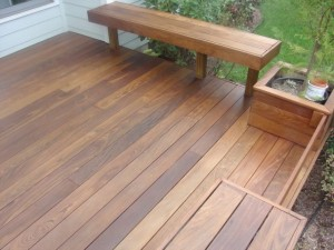 Ipe Deck With Hardwood Wiping Stain
