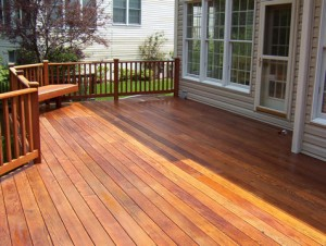 Pine Deck stained with Timber Oil