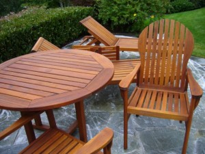 Teak Table and Chairs Restoration