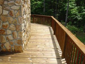 Pressure Treated deck with Warm Honey Gold